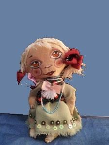 Игрушка кукла Маковка вышивка ручной работы.