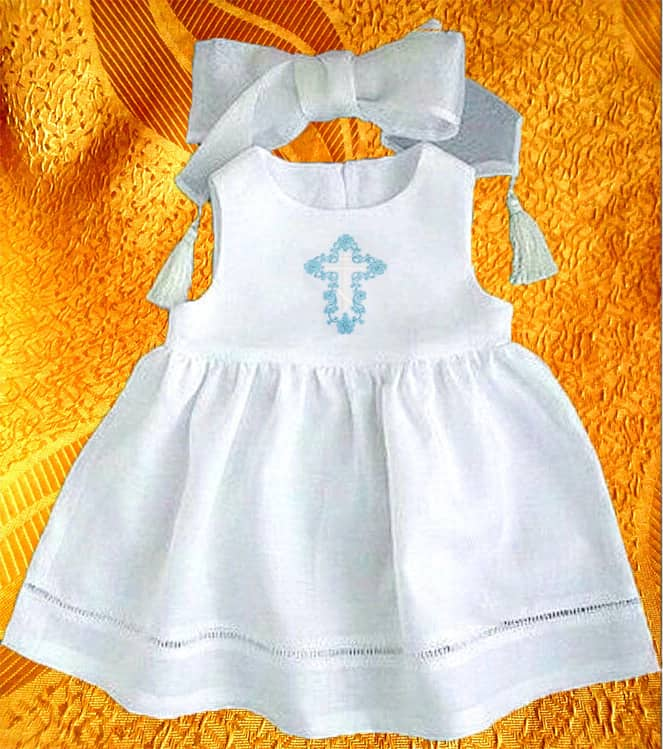Крестильное платье для девочки.