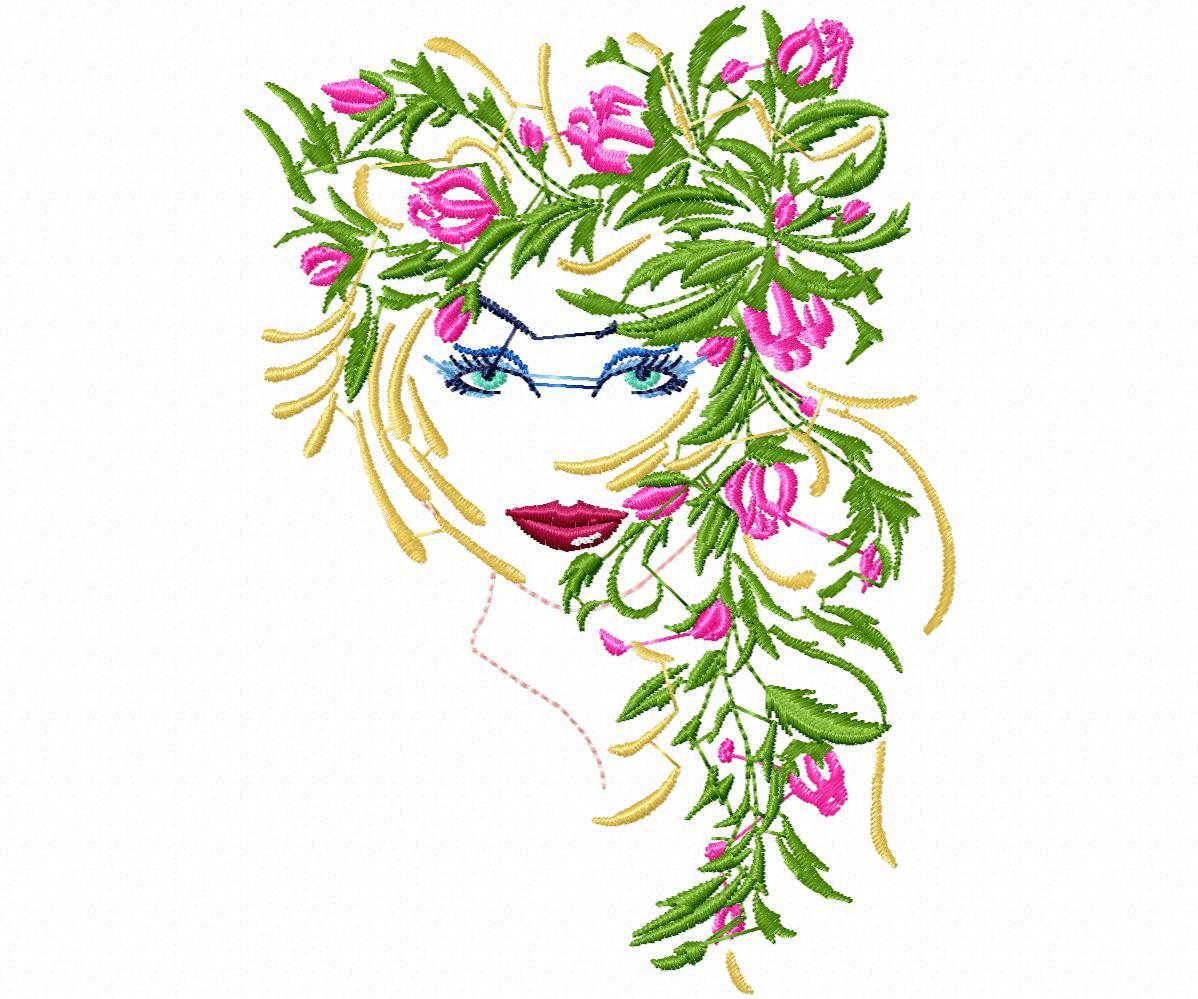 Лицо девушки в цветах-5