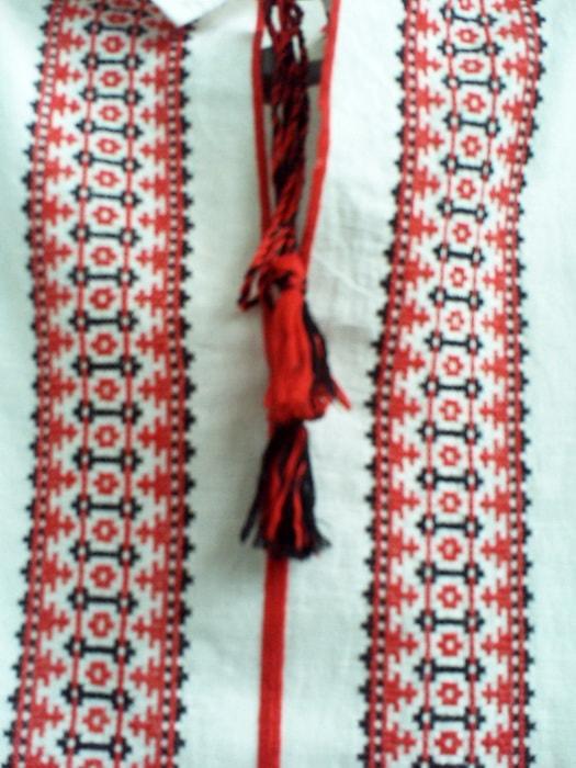 Сорочка древнеславянская с длинным рукавом (грудь)
