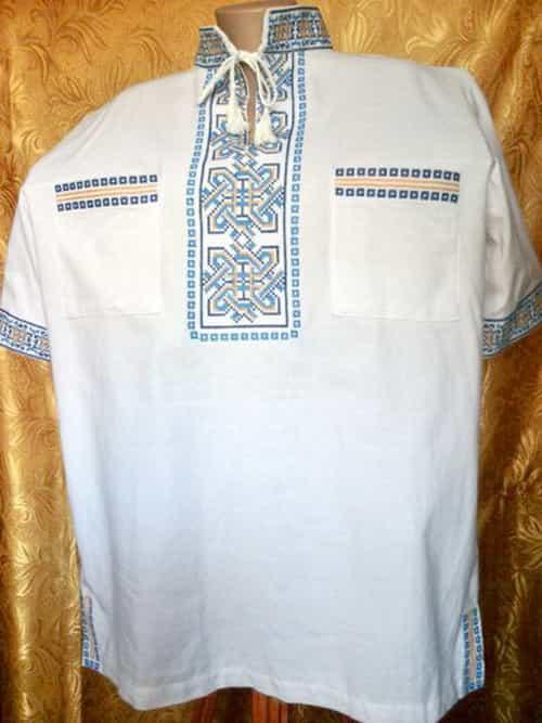 Сорочка с накладными карманами