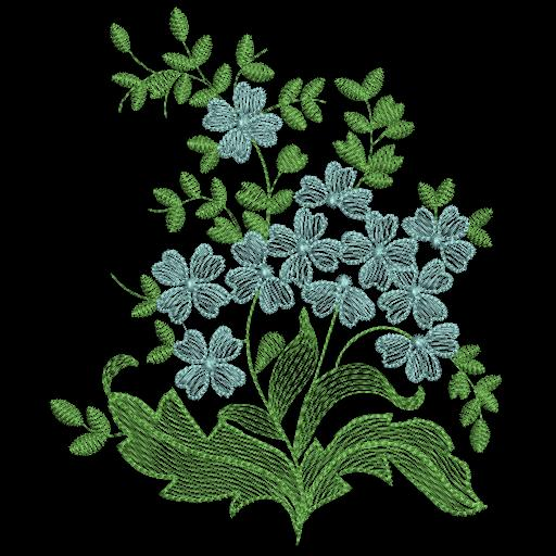 Цветы гладью на джинсы-53
