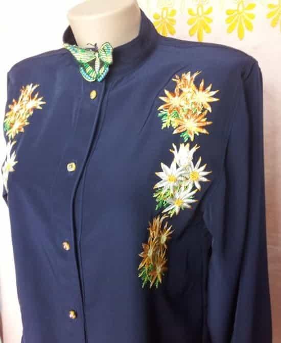 Блуза рубашечного типа (пазуха)