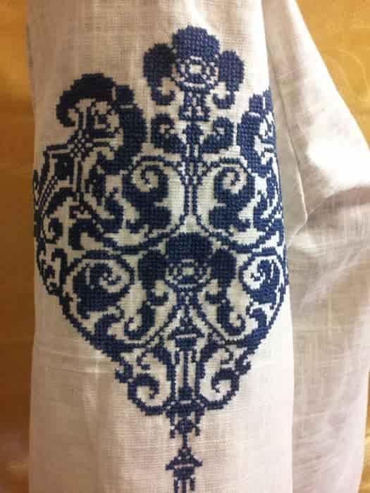 Блуза серая льняная (рукав)