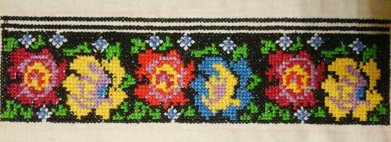 Деталь борщивской сорочки женской (манжет)