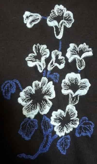 Элемент вышивки на платье ''Алла''