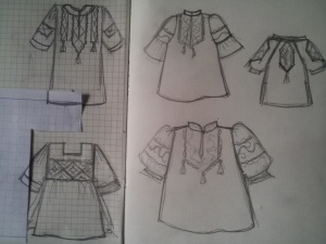 Эскизы для платья