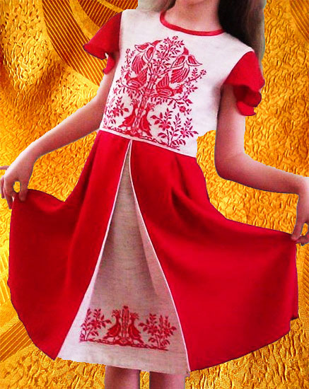 Платье ''Дерево счастья''