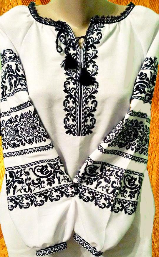 Платье чёрно-белое
