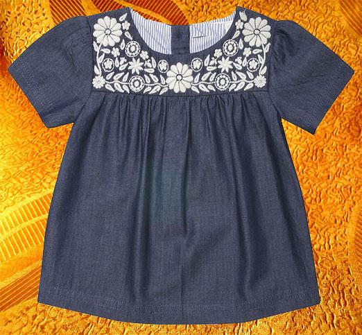Платье для девочки ''Деним''