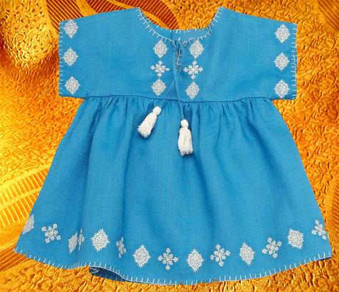 Платье для девочки ''Лазурное''