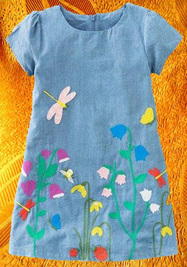 Платье для девочки ''На лугу''