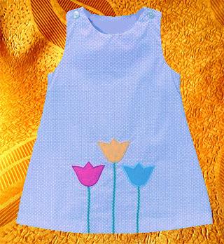 Платье для девочки ''Тюльпан''