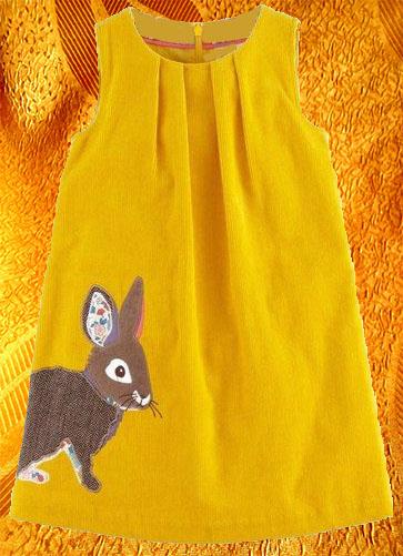Платье для девочки с апликацией ''Заяц''