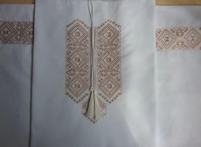 Сорочка Полтавская на белом (купон)