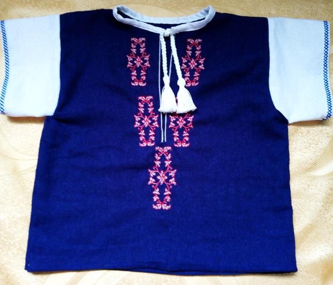 Сорочка для мальчика 2-х лет