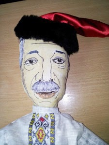 Сувенир авторский. Кукла -шарж