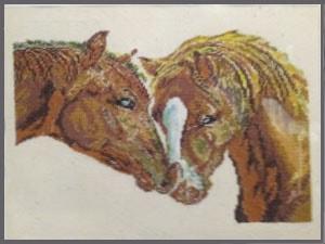 Сувенир авторский. Пара лошадей