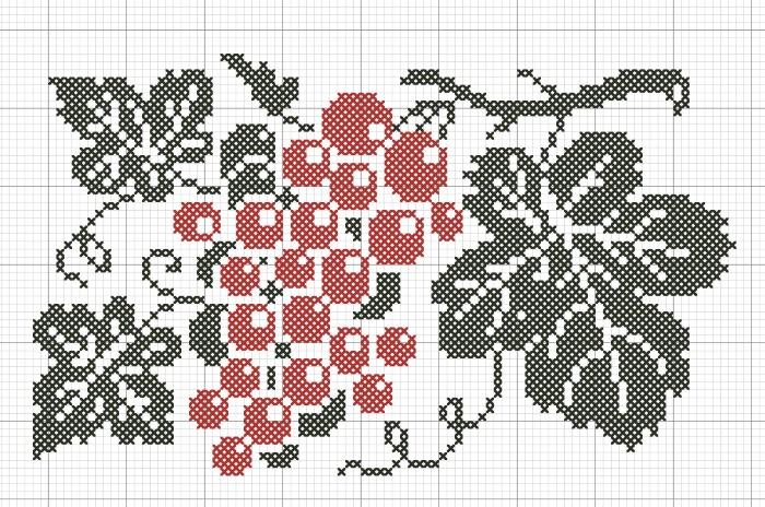 Народный орнамент на скатерть ''Виноград''