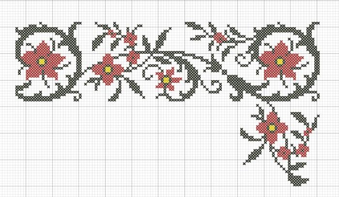 Народный орнамент на скатерть ''Вьюнок''