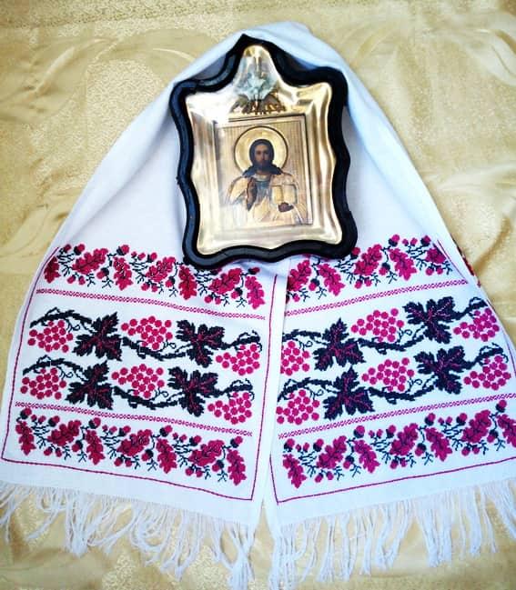 Рушник на икону для жениха
