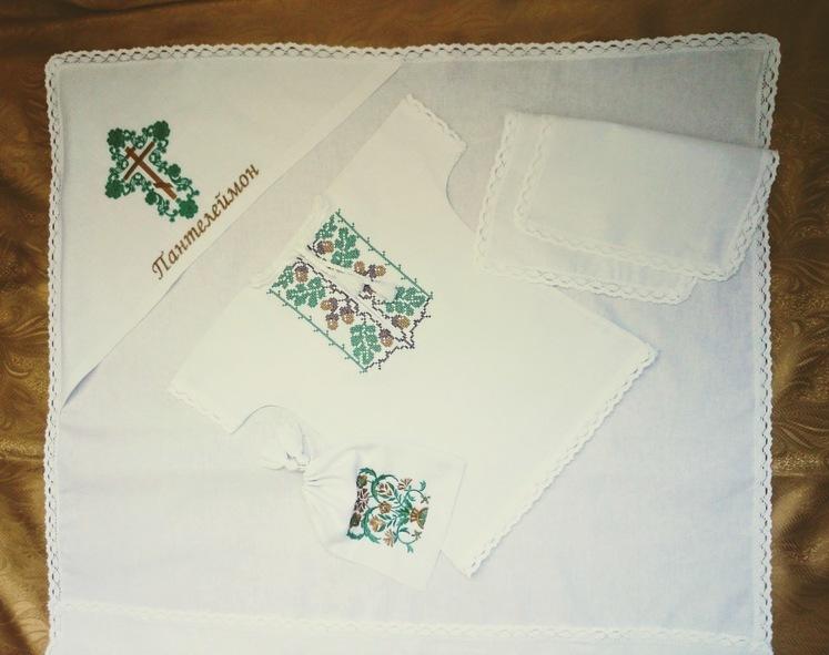 Крыжма для крещения Пантелеймона (в комплекте)