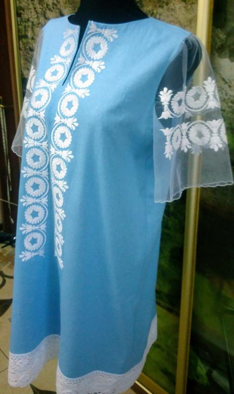 Платье вышитое ''Ромашковое''