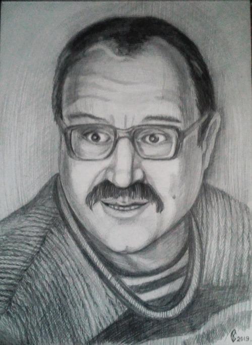 Портрет отца. Карандаш