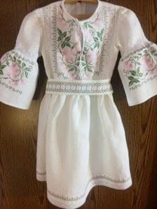 Заказать платье для девочки с вышивкой