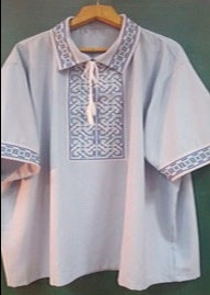 Вышиванка. Сорочка мужская славянска с коротким рукавом