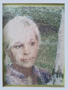 Портрет жены. Вышивка в технике крестик)
