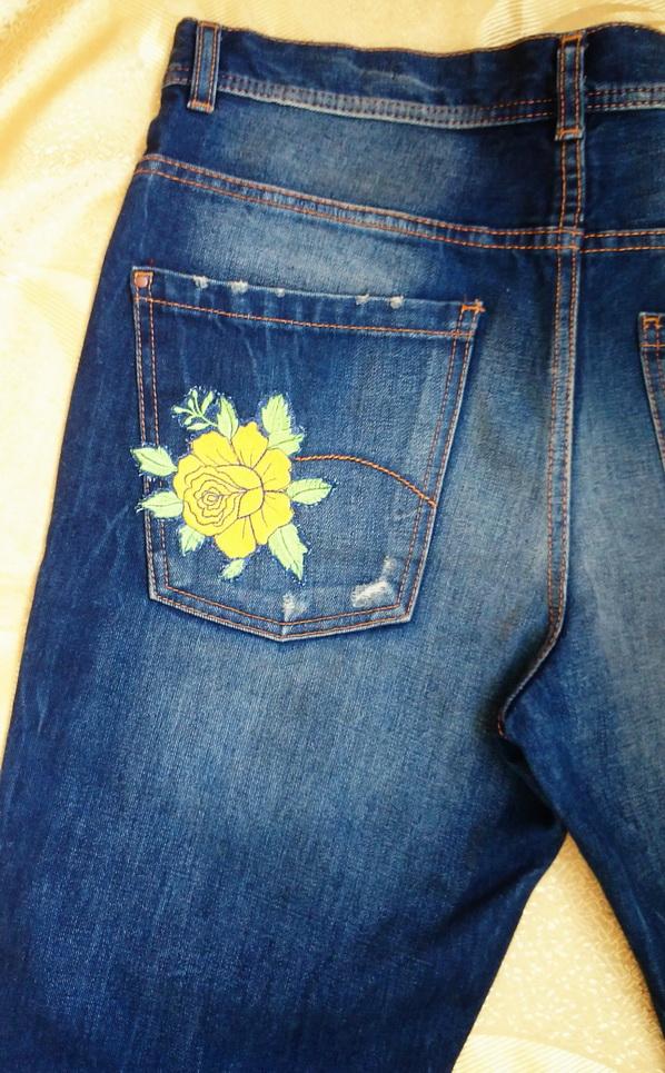 Аппликация для джинсов своими руками 826