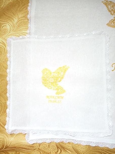 Крестильный набор для мальчика 4-5 лет (платок)