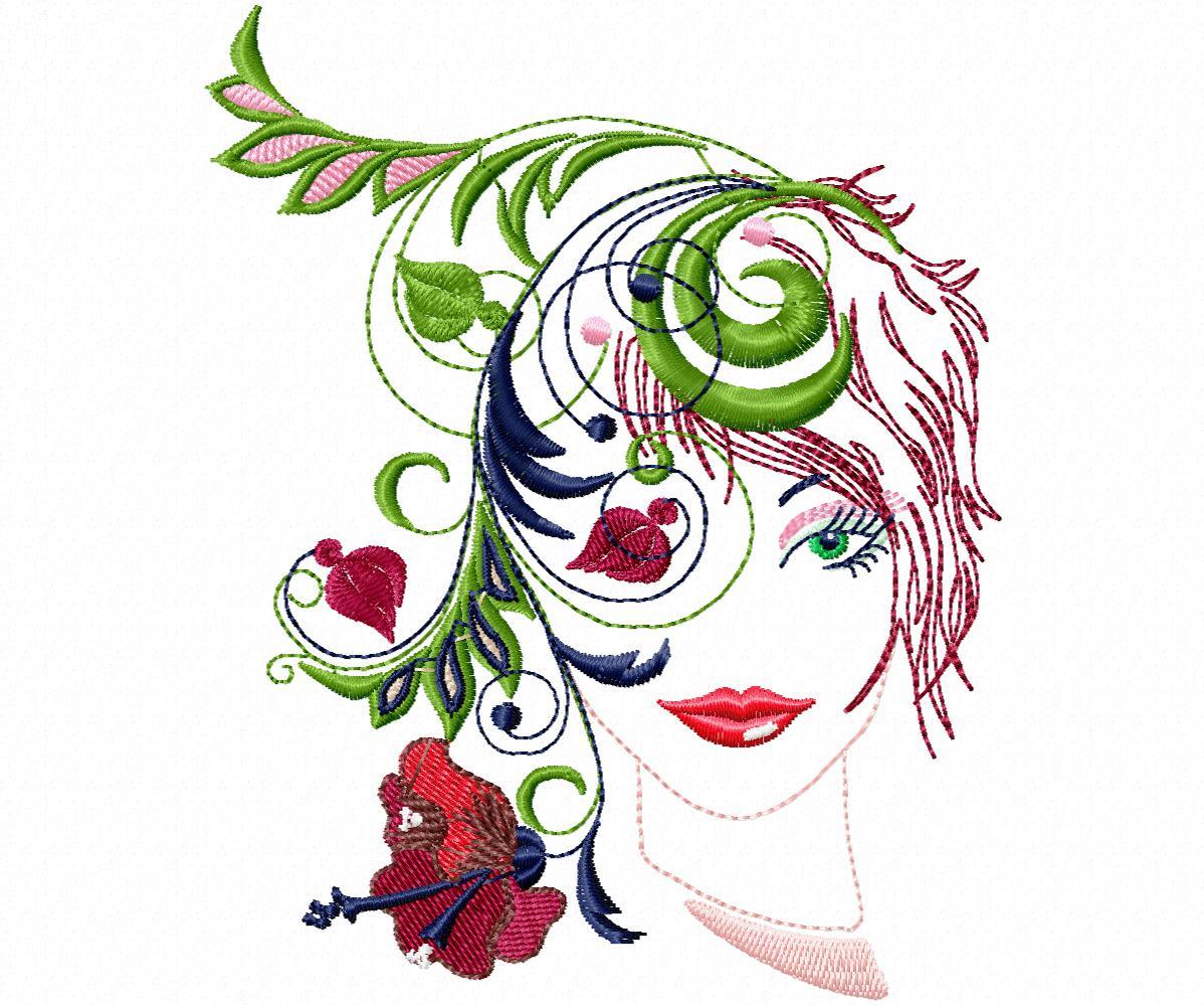 Лицо девушки в цветах-1