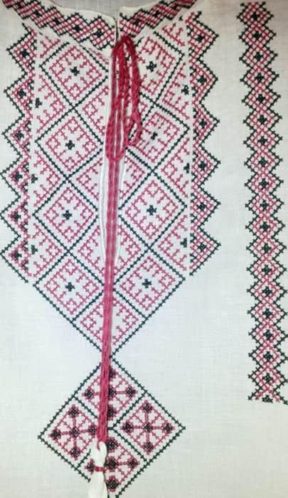 Орнамент для мужской сорочки с длинным рукавом