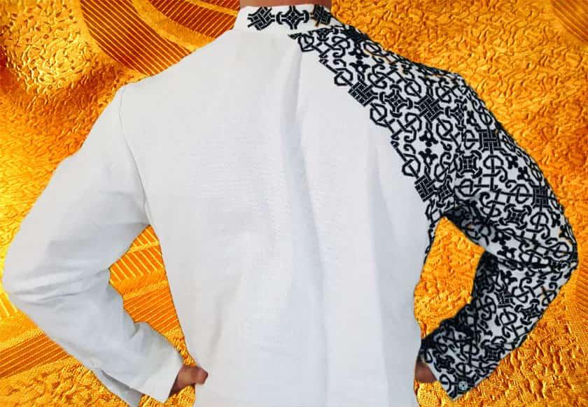 Сорочка мужская с длинным рукавом ''Анатолий''