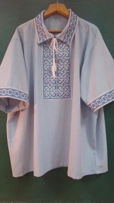 Сорочка мужская славянская с коротким рукавом