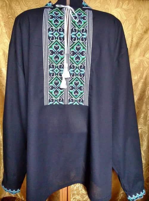 Сорочка с длинным рукавом. Закарпатье