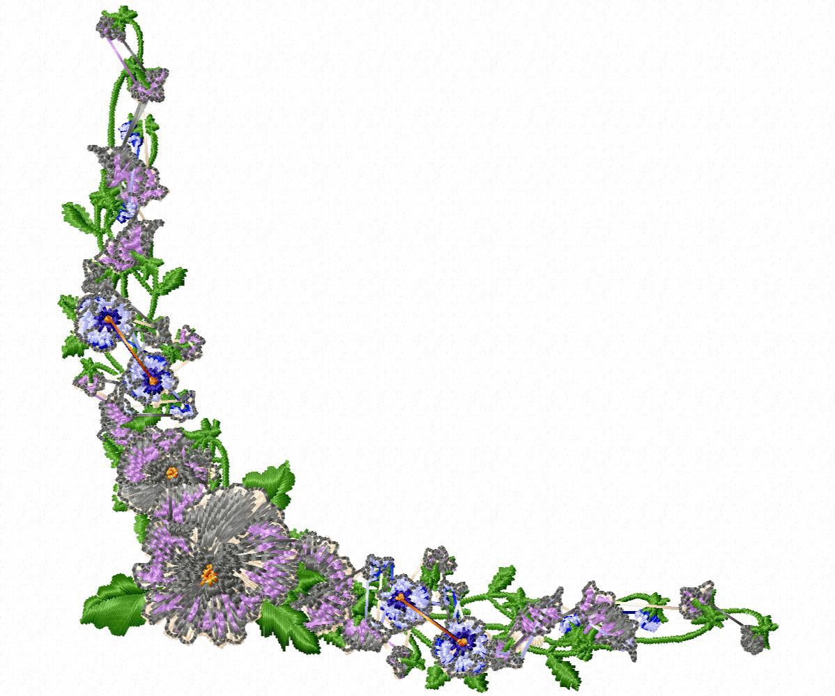 Цветы гладью на джинсы-30