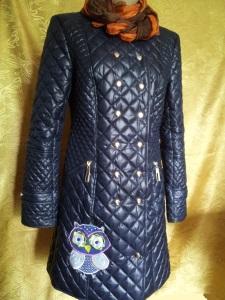 Украшение вышивкой. Демисезонное балоневое пальто Совуньи с вышивкой