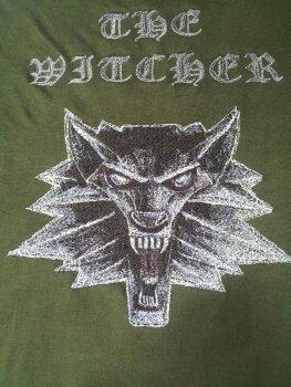 Украшение вышивкой. Футболка Witcher с вышивкой