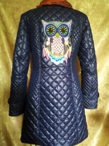 Украшение вышивкой. Спинка демисезонного пальто Совуньи с вышивкой