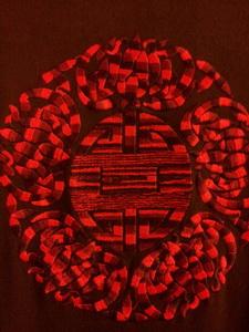 Украшение вышивкой. Старославянский символ Удача вышитый гладью