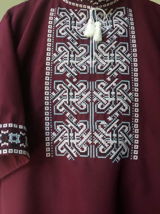 Вышиванка древнеславянская с коротким рукавом (грудь)