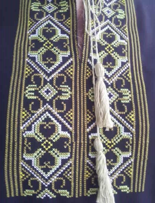 Вышиванка старославянская с оберегом (грудь)
