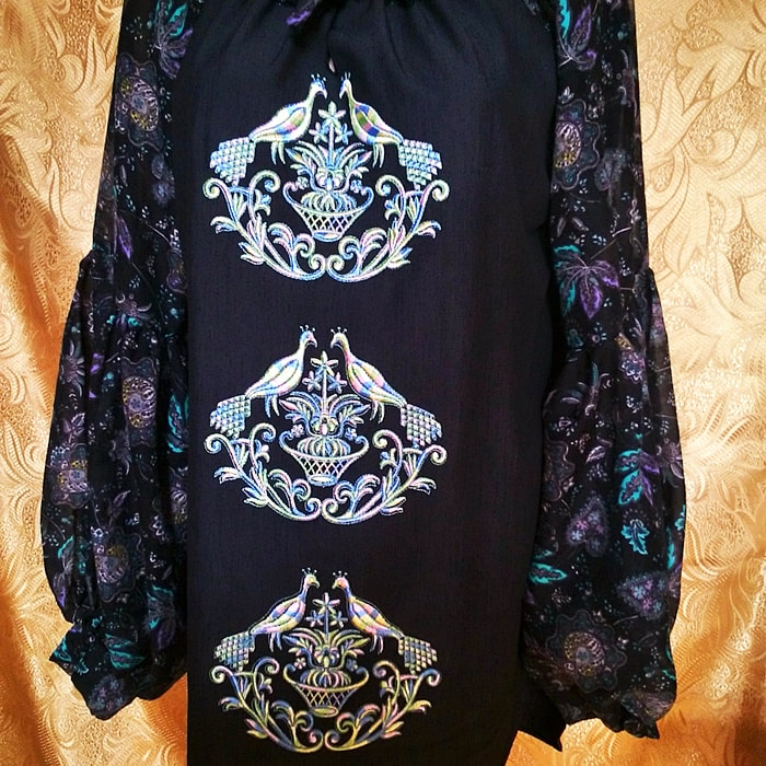 Блуза ''Пава'' с длинным рукавом