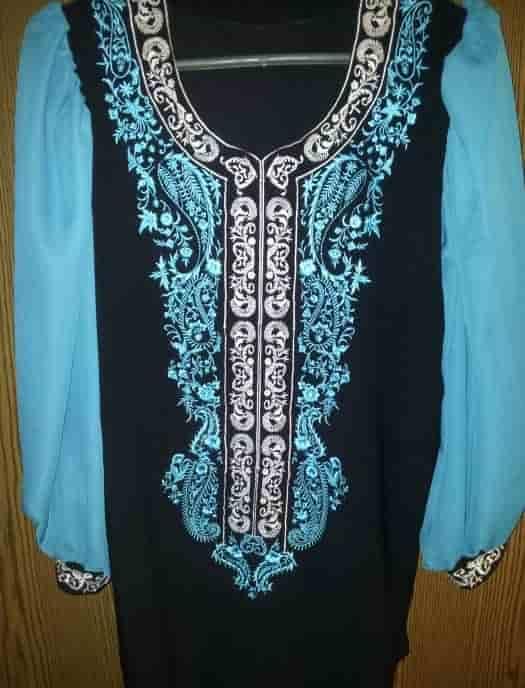 Блуза бирюзово-чёрная