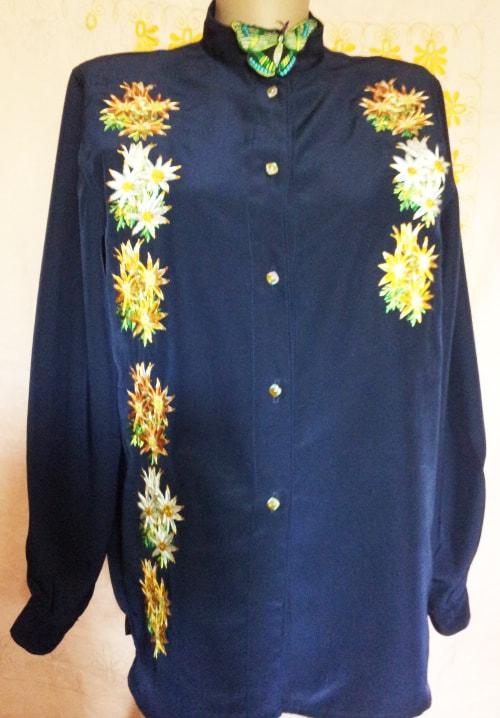 Блуза рубашечного типа ''Млечный путь''