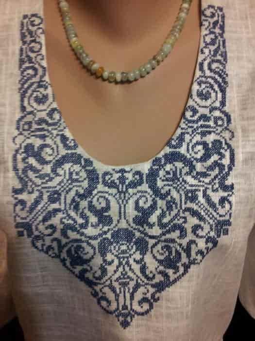 Блуза серая льняная (пазуха)