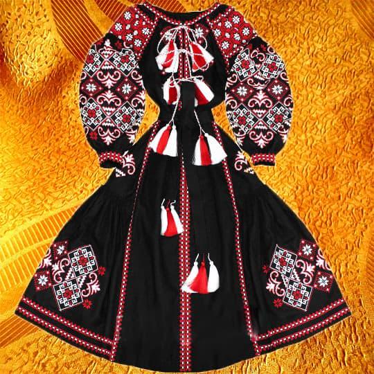 Довга сукня з клинами (чорна)